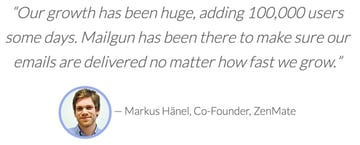 Exploring Mailgun - Markus Hanel ZenMate Co-Founder Testimonial