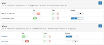 Yii Ajax - Meeting Planner UX Example