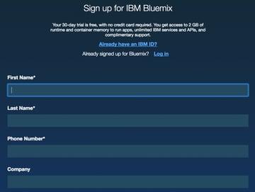 IBM BlueMix and DevOps - Sign Up for Bluemix