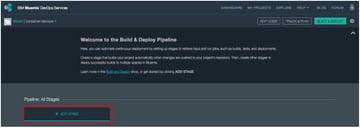 IBM BlueMix and DevOps - Build and Deploy Pipeline start