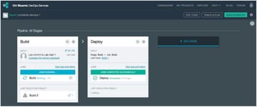 IBM BlueMix and DevOps - The Stages Build and Deploy