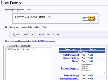 Programming with Yii Helpers - Example Demo of HtmlPurifierorg Library