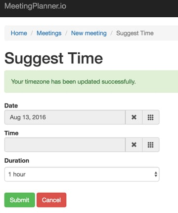 Building Your Startup Timezone Detection - Your timezone has been updated successfully alert
