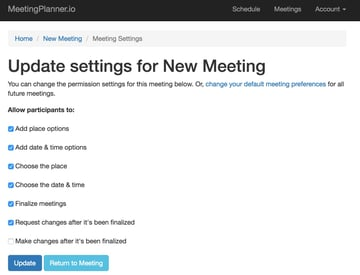 Build Your Startup Advanced Scheduling - Meeting Settings