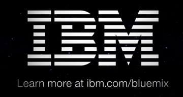 IBM Bluemix IoT Arm Gestures - IBM Logo and Bluemix Link