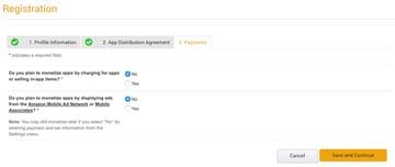 Amazon Appstore - Amazon Developer Console Monetization Settings