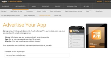 Amazon Appstore - Advertise Your App