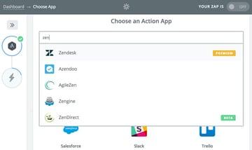 Assembla Zapier Automated Workflow - Choose an Action App at Zapier