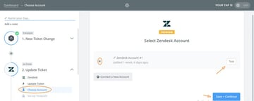 Assembla Zapier Automated Workflow - Connect to our Zendesk Account