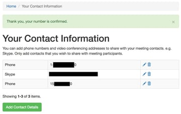 How to Verify a Phone Number via SMS - Successful confirmation notice