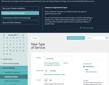 Acuity Scheduling Developers - Creating your Appointment Types