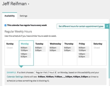 Acuity Scheduling Developers - Set up your Calendar Availability  Blocking