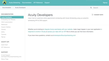 Acuity Scheduling Developer Platform - Documentation
