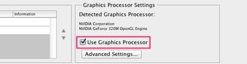 Use Graphic Acceleration
