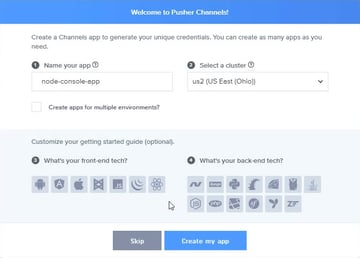 Create a Channels app