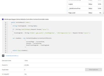 Integrated source code view