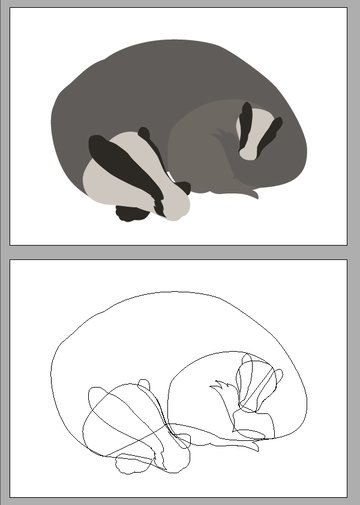 The Base Shapes for the Badger Family