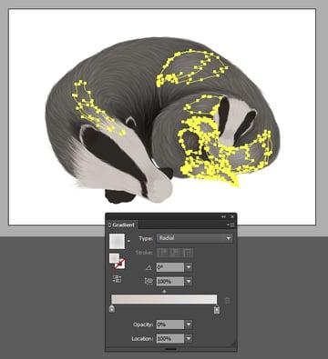 Adding highlighting gradients