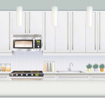 Using the Appearance Panel to Create a Kitchen Illustration