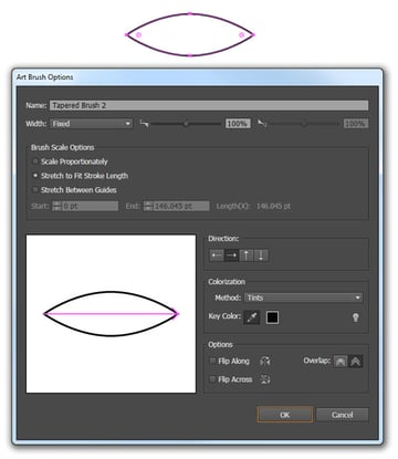 Create a new tapered brush