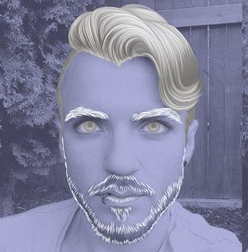 Starting rendering the facial hair