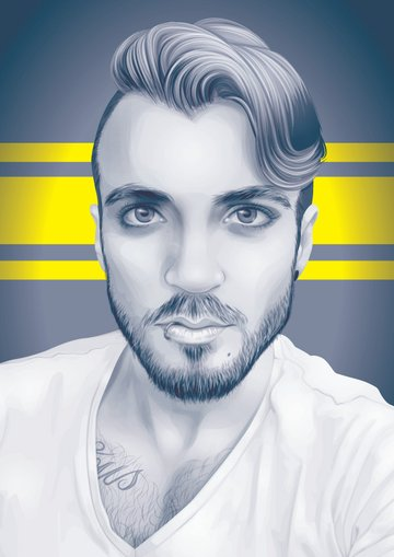 Greyscale Monochrome Vector Portrait Illustrator Tutorial