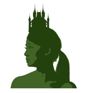 Add the castle crown