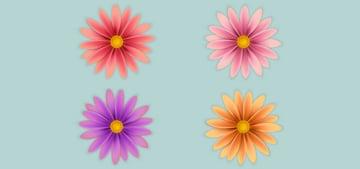 Create multiple flowers