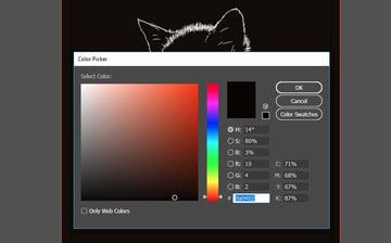 Adding an off black background