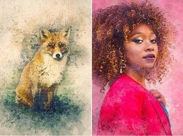 Watercolor Photoshop Action on Envato Elements
