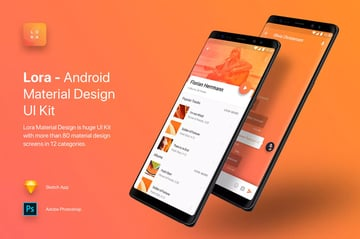 UI Kit in Living Coral