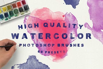 Example of a Photoshop Brush available on Envato Elements
