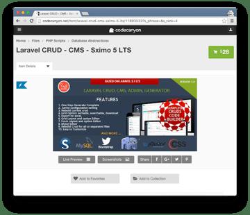 Sximo CMS Generator For Laravel 51 LTS