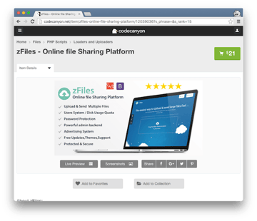 zFiles for Online File Sharing