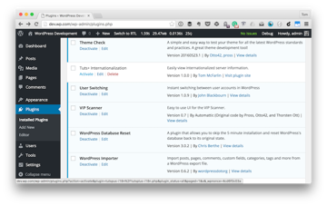 The Tuts Internationalization plugin visible in the Installed Plugins screen
