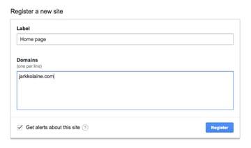 Registering a new site for reCAPTCHA