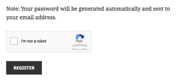 The reCAPTCHA field in action