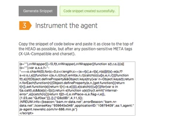 Instrument the agent