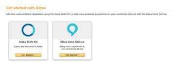 Select Alexa Skills Kit