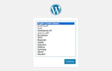 Begin your WordPress setup