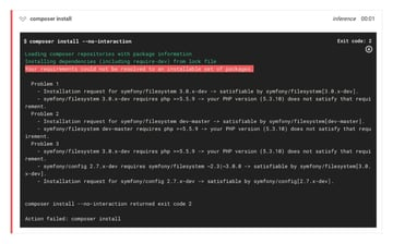 An error occurred during composer install