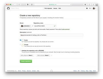 Create a new Github repository