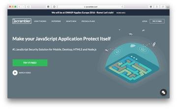 Jscrambler homepage