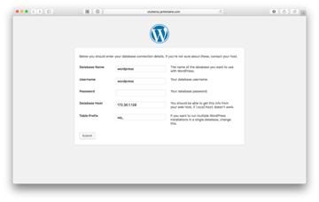 WordPress Database Setup