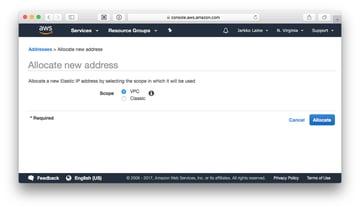 Allocate new address