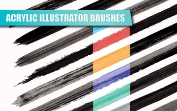 Acrylic Illustrator Brushes