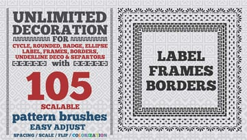 105 Border Pattern Brushes for Illustrator