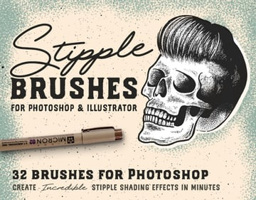 Stipple Brush Illustrator Set
