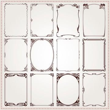 Art Nouveau - Decorative Frames and Borders