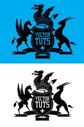 Crest Logo Illustrator Tutorial
